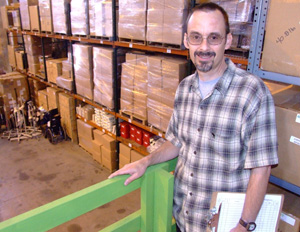 David Bell manages the CURE warehouse