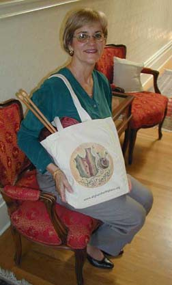 Susan with In-VEST for Peace Tote