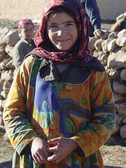 Afghan girl in a village in northern Afghanistan